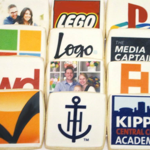 Corporate Logo Cookies